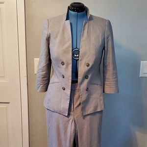 White House Black Market  light gray suit